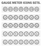 Icons. Gauge meter icons sets on white background Royalty Free Stock Photo