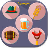 Icons of Germany Royalty Free Stock Photography