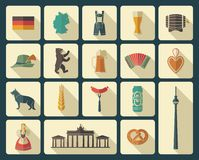Icons Of Germany Royalty Free Stock Photos