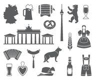 Icons Of Germany. Vector illustration Royalty Free Stock Images