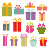 Icons gift. Royalty Free Stock Photography