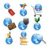 Icons for global concepts Royalty Free Stock Photography