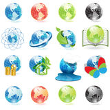 Icons globe Stock Photos