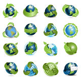 Icons globe and arrows Royalty Free Stock Photos