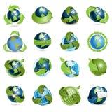 Icons globe and arrows Royalty Free Stock Photos