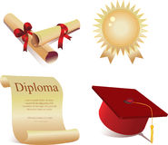 Icons for graduation Stock Image