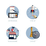 Icons for graphic design Royalty Free Stock Photography
