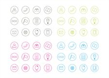 Icons Graphic Resources Circle Template Vector Series 2 Stock Images
