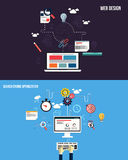 Icons for graphics seo and web design Royalty Free Stock Images