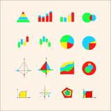 Icons for graphs and charts Royalty Free Stock Photo
