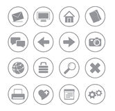 Icons_gray_ball01 Royalty Free Stock Images
