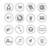 Icons_gray_ball02 Stock Photography