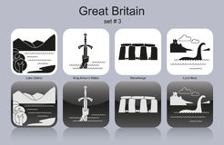 Icons of Great Britain Stock Images