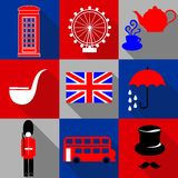 Icons Great Britain Royalty Free Stock Images