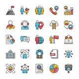 Human Resource Vector Icons Set 4 Royalty Free Stock Photo