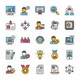 Human Resource Vector Icons Set 1 Stock Images