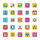 Human Resource Vector Icons Set 3 Royalty Free Stock Photography