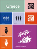 Icons of Greece Royalty Free Stock Photo