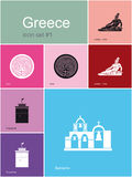 Icons of Greece Royalty Free Stock Photos