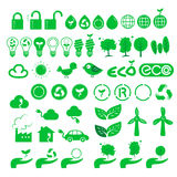 Icons of green. There are icons of green Royalty Free Stock Image