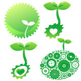 Icons of green. There are icons of green Stock Photography