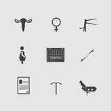 Icons for gynecology Stock Photography