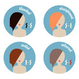 Icons for hairdressers and beauty salons Royalty Free Stock Photography