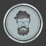 Icons hairstyles beard stock illustration