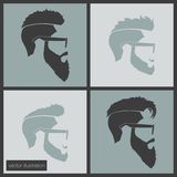 Icons hairstyles beard Royalty Free Stock Photography