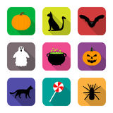 Icons for Halloween Stock Images
