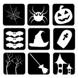 Icons of halloween Stock Photos
