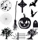 Icons Halloween Set Stock Photos