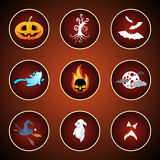 Icons for Halloween Royalty Free Stock Photography