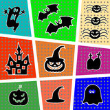 Icons for Halloween. Stock Photo