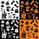 Icons for halloween Stock Photography