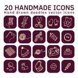 Icons handmade set Stock Photos