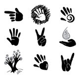 Icons  -- hands Stock Photography