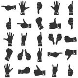 Icons hands vector Stock Images