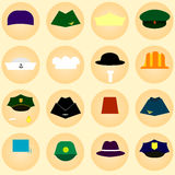 Icons hats Vector 1 1 1 Stock Image