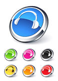 Icons headphone music Royalty Free Stock Photography