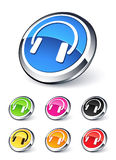 Icons headphone music Stock Images