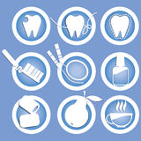Icons healthy teeth Royalty Free Stock Photo