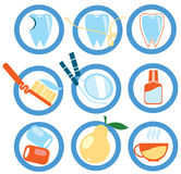 Icons healthy teeth Royalty Free Stock Image