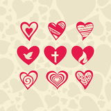 Icons heart Stock Image