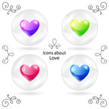Icons  heart of glass bowl Stock Photo