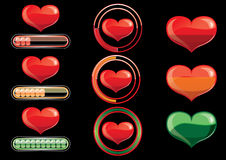 Icons, the heart with the scale load Royalty Free Stock Photos