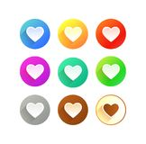 Icons of Heart Royalty Free Stock Image