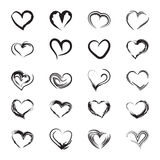 Icons heart sketch. Icons abstract hearts. Vector illustration Stock Photography