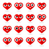 Icons heart smilies Stock Images