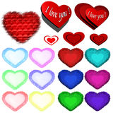 Icons of hearts Royalty Free Stock Photos